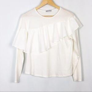 Zara Long Sleeve Ruffle Top